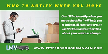 Who to notify when you move?